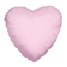 pink foil heart balloon