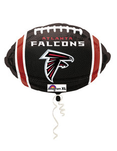 "18"" Atlanta Falcons Football Shape Helium Foil Balloon 1ct # 26142"