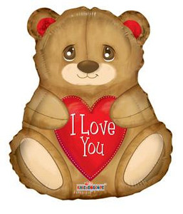 "18"" I LOVE YOU BEAR Shape Balloon (5 PACK) #19554"