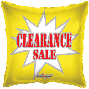 "18"" Clearance Square Helium Foil Balloon (5 Pack)"