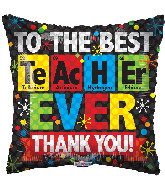 "18"" Best Teacher Ever Chemical 88168-18"
