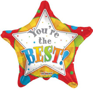 "18"" Your the Best Stars Helium Foil Balloons 1ct #88062"