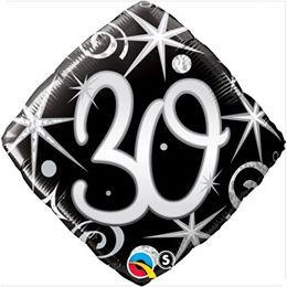 "18"" 30th Birthday Elegant Sparkles Diamond 1pk #30007"