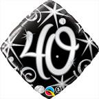 "18"" 40th Birthday Elegant Sparkles Diamond 1pk #30009"