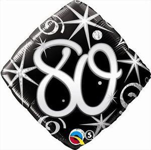 """18"""" 80th Birthday Elegant Sparkles Diamond Balloon 1pk #30283"""