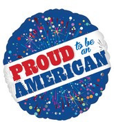 "18""  Proud to Be American Balloon (5 PACK) 32586-18"