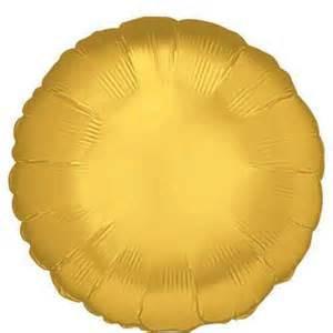 "18"" Metallic Gold Circle Helium Foil Balloon (5 Pack) #17424"