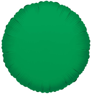 "18"" Green Circle Foil Helium Balloon (5 Pack) #34052"