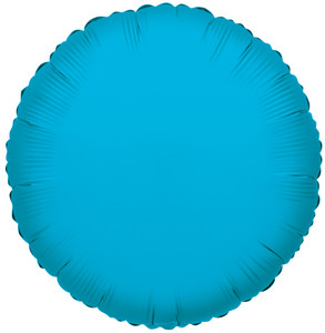"18"" Turquoise Circle Helium Foil Balloon (5 Pack)#17906"