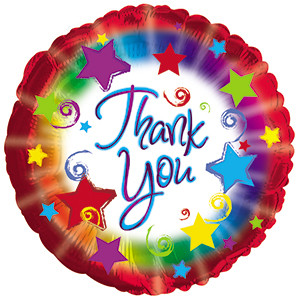 "18"" Thank You Burst Helium Foil Balloon 1ct #114667"