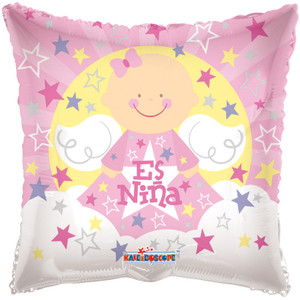 "18"" Angel Sobre Nubes Es Nina 1ct"