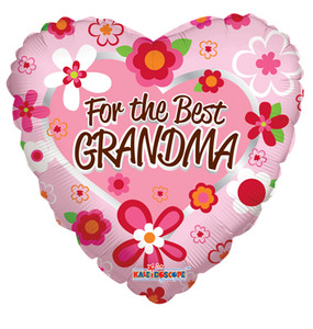 "18"" The Best Grandma Helium Foil Balloons (5 PACK)#88089"