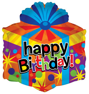 """18"""" Birthday Gift Box Balloon (5 Pack) #19606"""