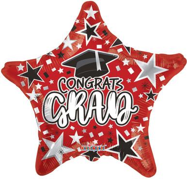 red graduation balloons