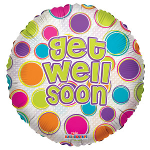 "18"" Get Well Dots Clear View (5 PACK) #19152"