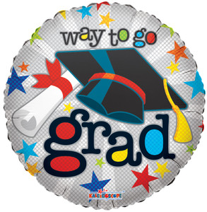 "18"" Graduation Balloons Way to Go Grad Foil Balloon (5 Pack)#85092"