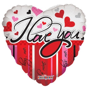 """18"""" I Love You Lines & Hearts Balloon (5 PACK)"""