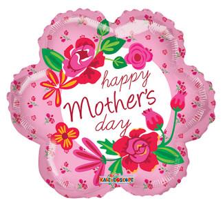 "18"" Mother's Day Flower Shape Helium Foil Balloon (5 PACK) #84228"