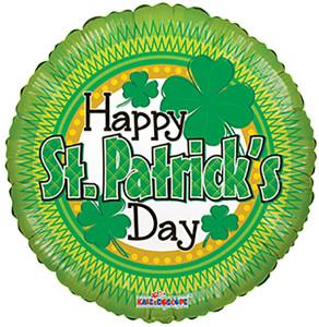 "St. Patrick's Day Balloon Shamrock 18"" 1ct #82060"