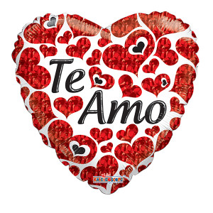 "18"" Spanish Love Te Amo Spanish Love Balloons (5 PACK) #19565"