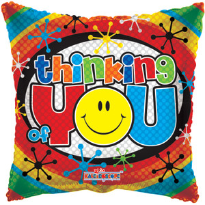 "18"" Thinking Of You Smiley Foil (5 PACK) # 19091"