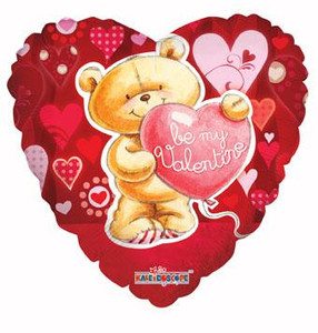"18"" Be My Valentine Bear With Heart 1ct #81147"