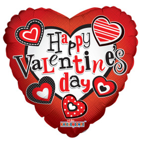 """18"""" Valentine Floating Hearts Helium Foil Balloons 1-side (5 Pack)#20179"""