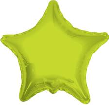 lime green star balloon