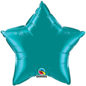 "20"" Qualatex Metallic Teal Star Foil Balloon (5 PACK) #36576"