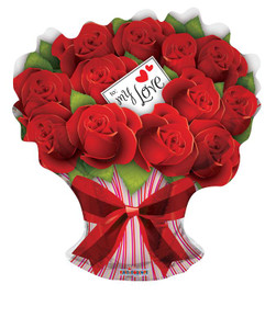"28"" Roses Bouquet Shape Balloon 1ct"