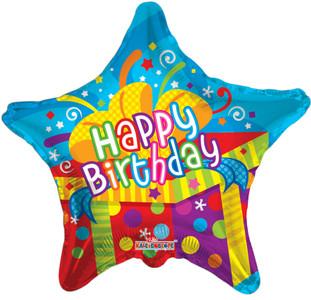 "19"" Birthday Big Present Helium Foil Balloons (5 Pack)#19227"