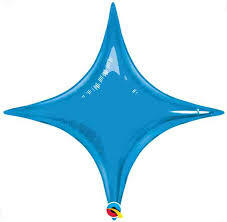 "**CLOSE OUTS** 40"" Sapphire Blue Star Point Air Fill Only 1ct #32012"
