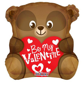 "20"" Valentine Bear Shape Balloon  (5 Pack) #81190"