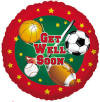 "18"" Get Well Sports Helium Foil Balloon (5 PACK) #17328"