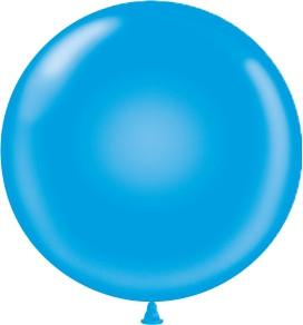 "24"" Tuf Tex Blue Round Latex Balloons 1ct #2403"