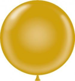 "24"" Tuf Tex Metallic Gold Round Latex Balloons 1ct #2431"