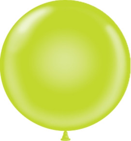 "24"" Tuf Tex Lime Round Latex Balloons #2464"