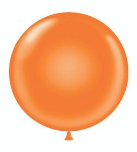 "24"" Tuf Tex Orange Round Latex Balloons 1ct #2405"