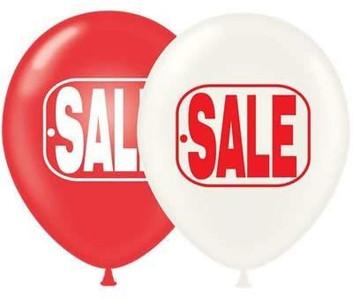 "17"" Round Sale Printed Latex Helium Balloon 50ct  #17847"