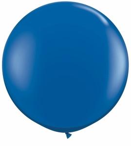 "24"" Tuf Tex Jewel Sapphire Blue Transparent Round Latex Balloon 1ct #24183"