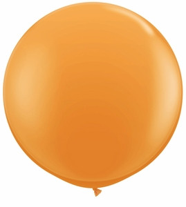 "24"" Jewel Tangerine Orange Transparent Round Latex Balloons 1ct #24483"