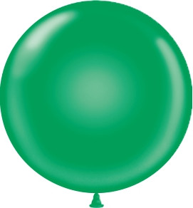 "24"" Tuf Tex Green Round Latex Balloons 1ct #2404"