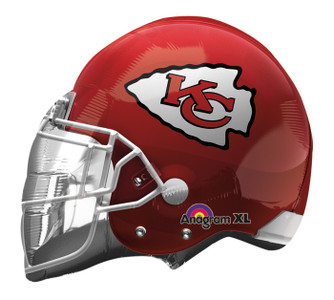 "21"" KC Chiefs Helmet Shape Helium Foil Balloon 1ct  #26304"