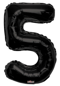 "34"" Large Black # 5 Balloon #19687"