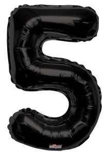 """34"""" Large Black # 5 Balloon #19687"""