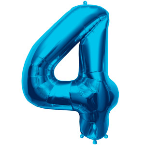 "34"" Large Blue # 4 Balloon"