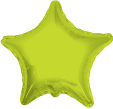 large lime star balloon