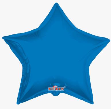 "big blue star balloon 36"" mylar star balloons"