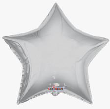big silver star balloons