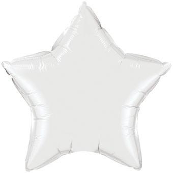 """big white star balloons 36"""" white foil star balloons"""